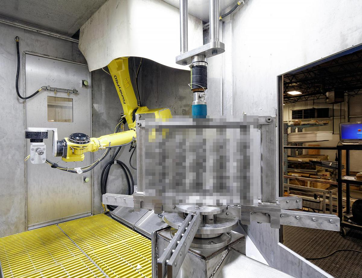 Robotic Waterjet Investment Casting Shell Removal - Waterjet